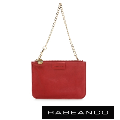 RABEANCO-時尚手拎鍊帶小零錢包-紅