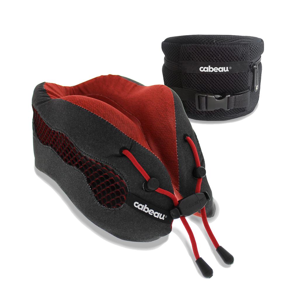 CABEAU-酷涼記憶棉頸枕2.0-勃根地紅