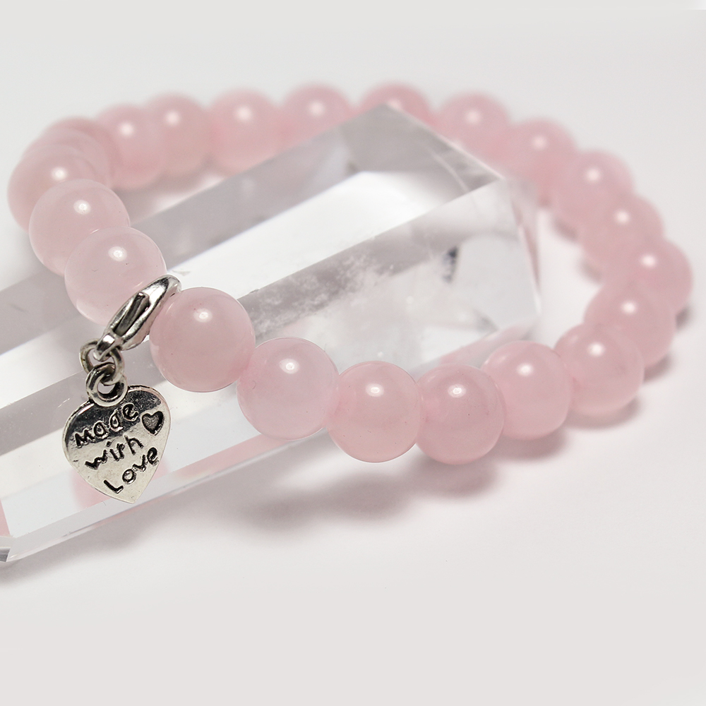 A1寶石 時尚粉水晶手鍊-守護愛情招桃花貴人運旺帶來正能量防爛桃花