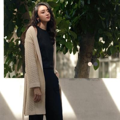 東京著衣-KODZ 雜誌流行麻花織紋設計針織外套(共二色)