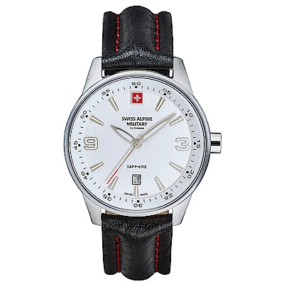 阿爾卑斯 S.A.M -獨家限定-飛翼系列-白色錶盤/黑色皮帶/41mm