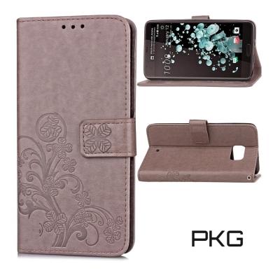 PKG HTC U-Ultra 側翻式皮套-精選皮套系列-精緻壓紋灰