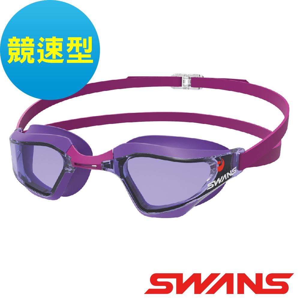 【SWANS 日本】專業競速型泳鏡SR-72NPAF桃紅(防霧/抗UV/可調式鼻墊)