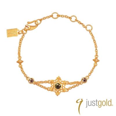 鎮金店Just Gold 榮耀系列-純金手鍊