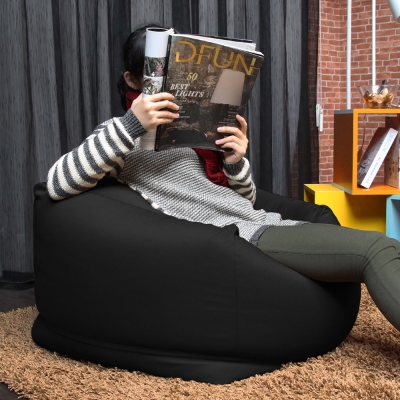 H&D  CHIKA千夏和風超微粒舒適 方形懶人沙發