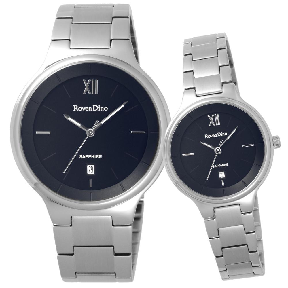 Roven Dino羅梵迪諾 星願聚集時尚對錶-銀X黑-30X39mm