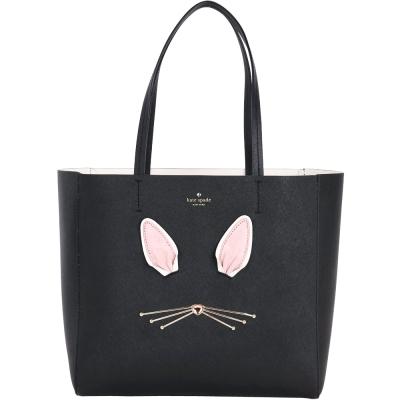 Kate Spade Magic Bunny 兔子造型防刮牛皮肩背包(黑色)