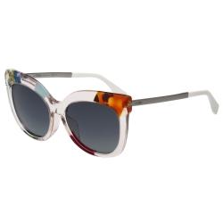 FENDI 造型小貓眼 太陽眼鏡 (透明花樣) FF0179FS