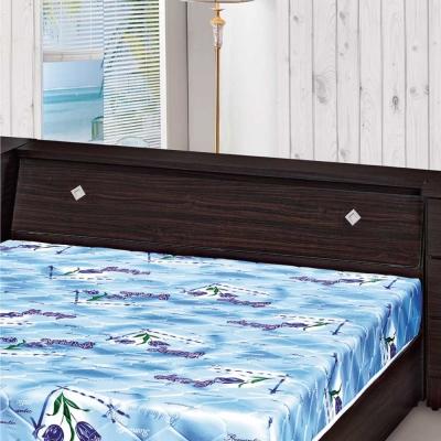 品家居 森布6尺木紋雙人加大床頭箱(六色可選)-184x30x76cm免組