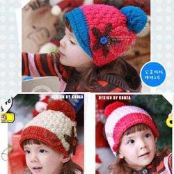 韓版-五角海星保暖毛線帽