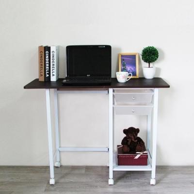 Amos-美學時尚多功能摺疊收納工作桌-寬45~99x深45x高74.2cm