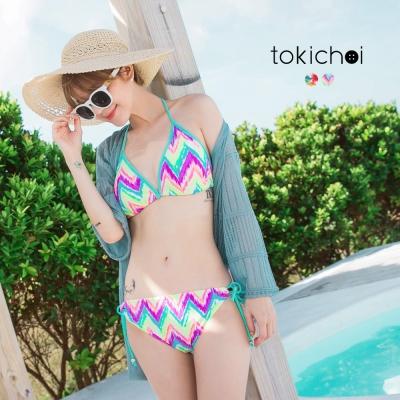 東京著衣 繽紛印花比基尼套裝(共二色)