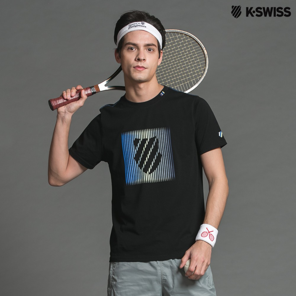 K-Swiss Shield Graphic Tee印花短袖T恤-男-黑
