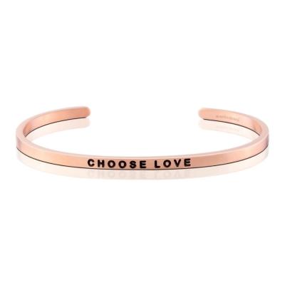 MANTRABAND Choose Love 美國悄悄話手環 激勵箴言玫瑰金色手環