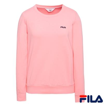 FILA女圓領素T恤-淺粉5TER-5509-PK