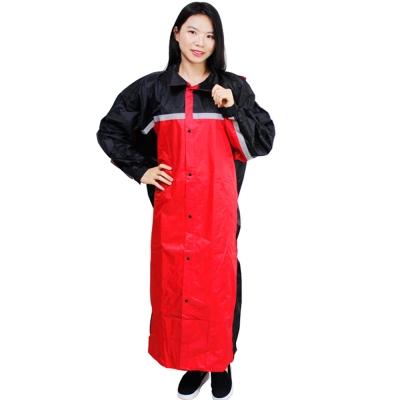 JUMP精緻前開雨衣-紅色+通用型雨鞋套