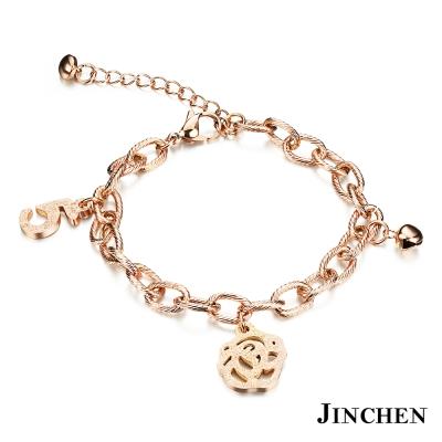 JINCHEN 白鋼薔薇手鍊