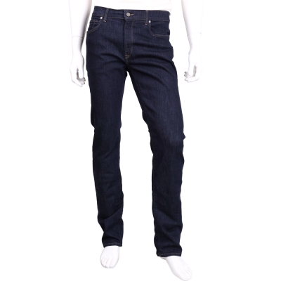 TRUSSARDI 380 ICON 深藍色高腰直筒牛仔褲(男款)