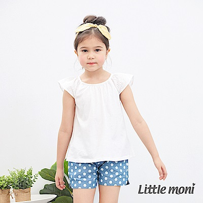 Little moni 蕾絲飛袖上衣 (2色可選)