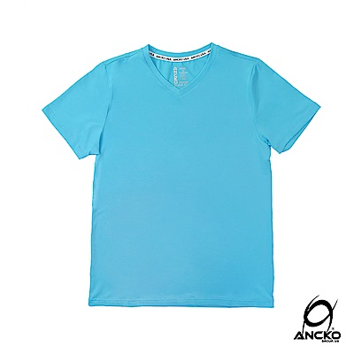 【ANCKO-USA】潮牌聯名抗UV瞬間涼感衣男款-藍