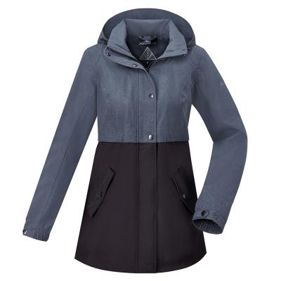 【ATUNAS 歐都納】女款防水GORE-TEX兩件式風衣外套A-G1722W黑灰