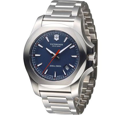 Victorinox 維氏 INOX 軍事標準專業腕錶-藍/43mm