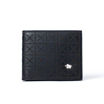 DRAKA 達卡 - 極品布雅德幾何系列 -真皮短夾-3411