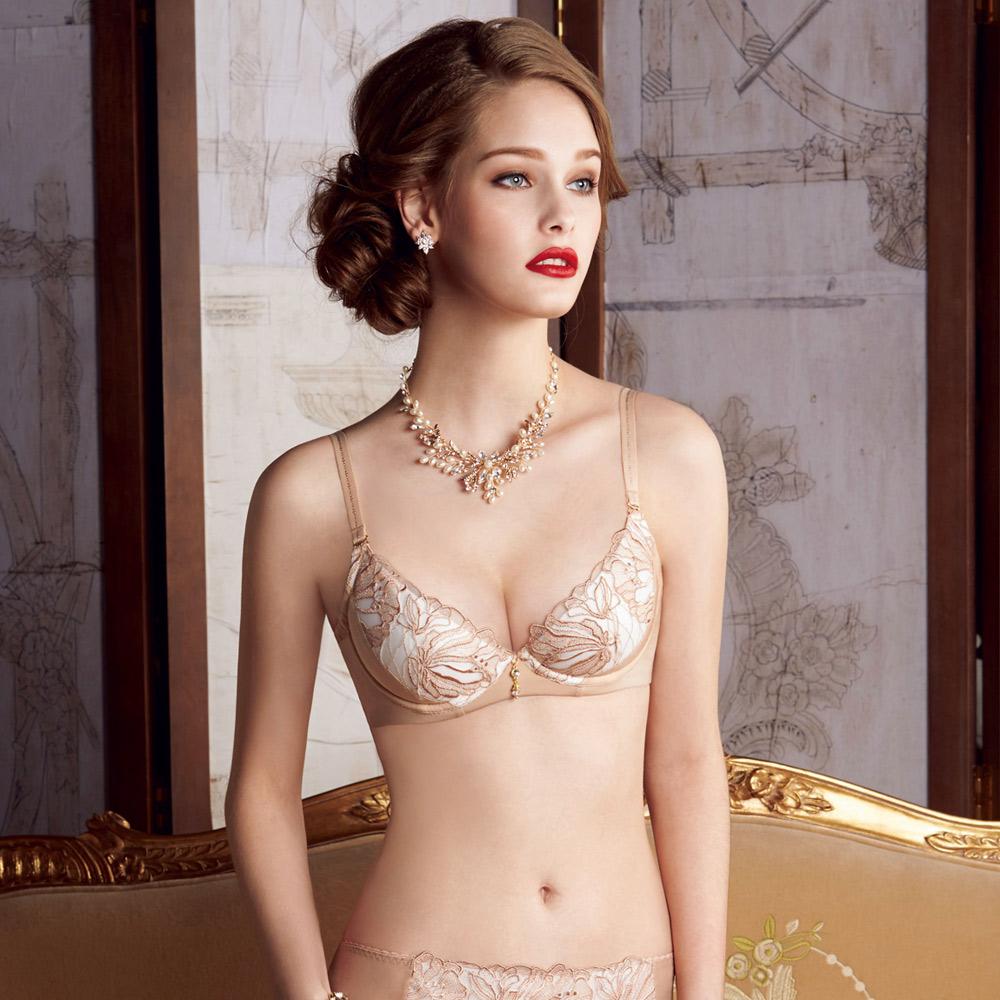 曼黛瑪璉 Marie One 刺繡蕾絲內衣 B-E罩杯(鞣革膚)