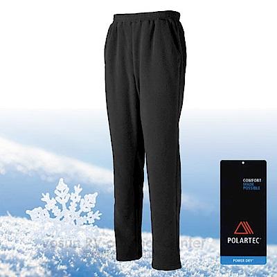 【台灣 DEODAR】Polartec 超輕快乾彈性刷毛保暖長褲_黑