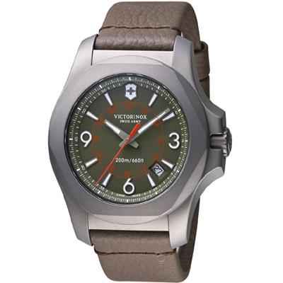 VICTORINOX SWISS ARMY 維氏I.N.O.X.鈦金屬手錶-墨綠/44mm