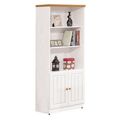 ROSA羅莎 海曼鄉村風烤白2.5尺書櫃