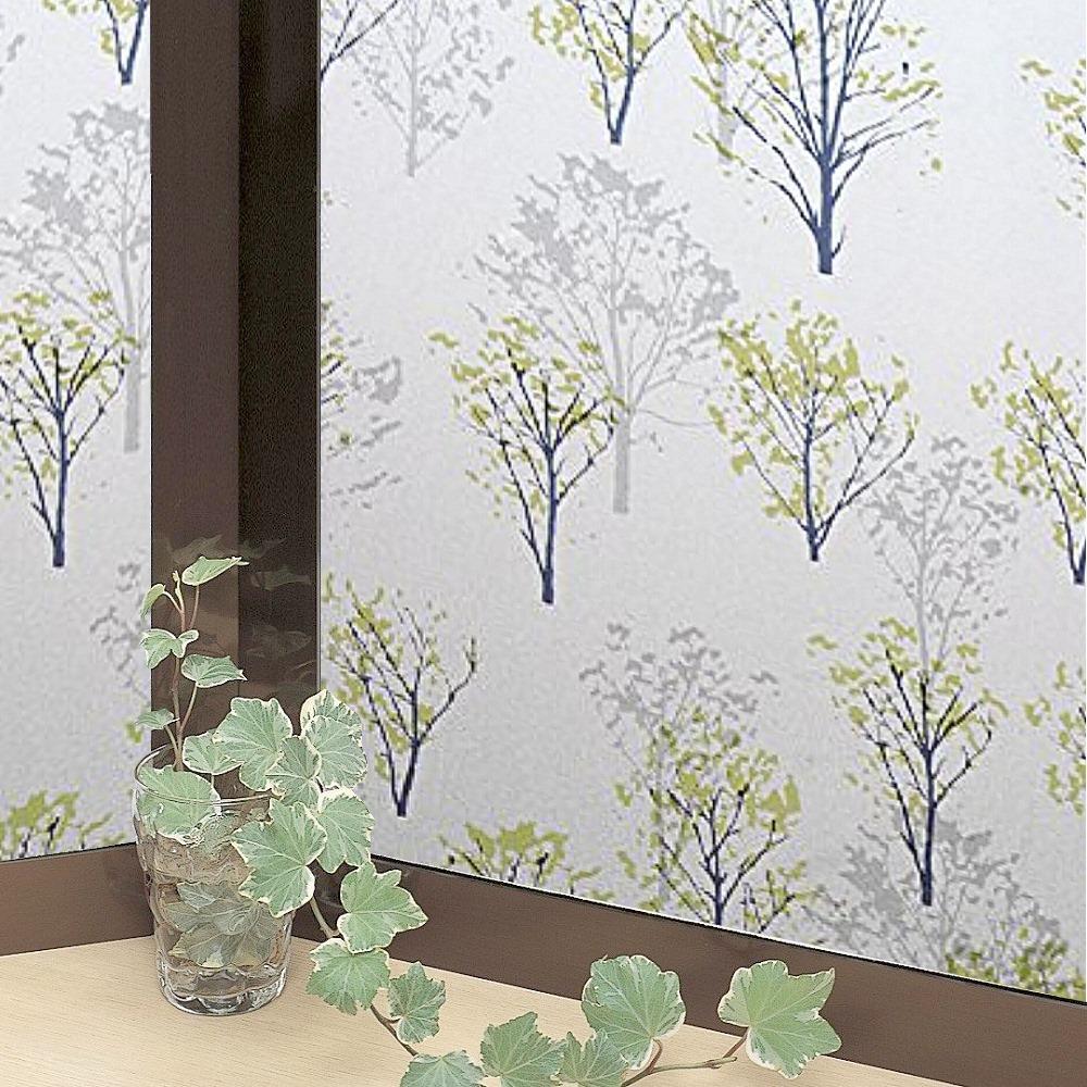 ★促銷★〔日本MEIWA〕抗UV靜電窗貼 (情懷森林)92x200公分