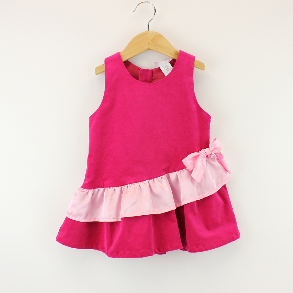愛的世界 MYBEAR 小禮服式絨面背心洋裝/2~4歲