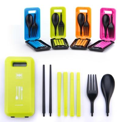 PUSH!餐具 炫彩多功能餐具組有筷子湯匙叉子