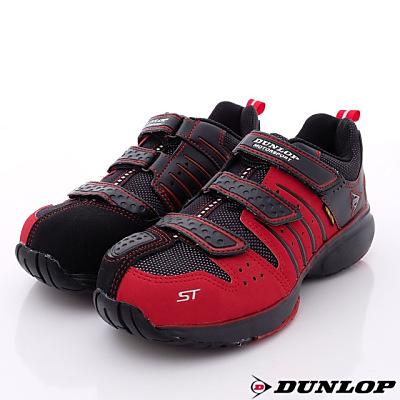 日本DUNLOP機能健走鞋- 4 E鋼頭鞋 302 - 10 紅-男段