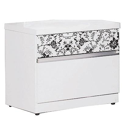 品家居 愛貝拉1.7尺二抽床頭櫃-52x40x48cm-免組