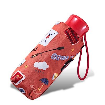 RAINSTORY倫敦風情(橙)抗UV迷你口袋傘