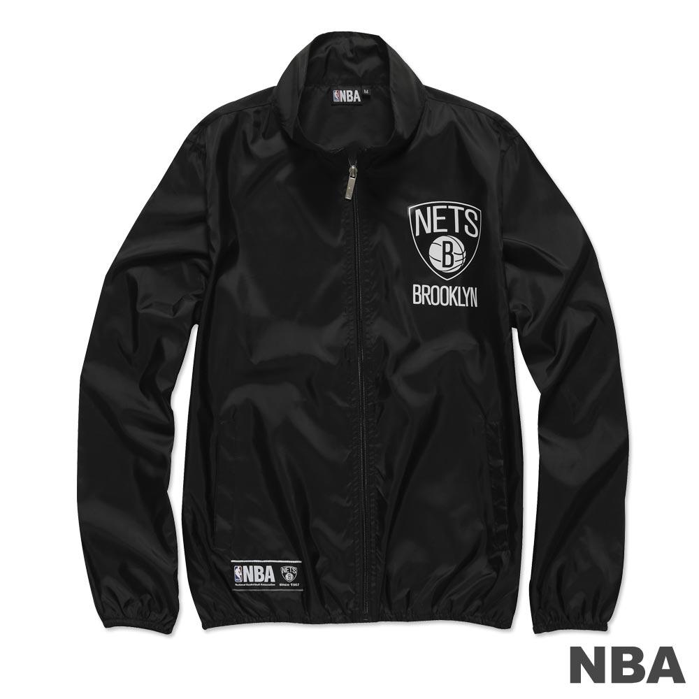 NBA-布魯克林籃網隊薄風衣外套-黑(男)