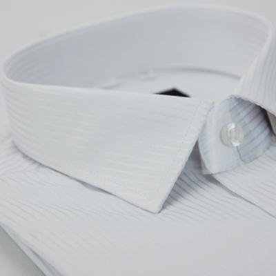 【金安德森】白色直紋窄版長袖襯衫