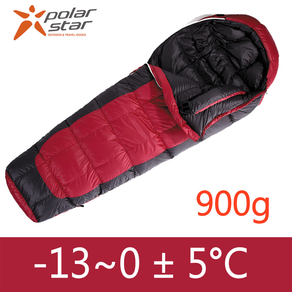 PolarStar 頂級羽絨睡袋 JIS 95/5 絨重900g『紅』 P13732