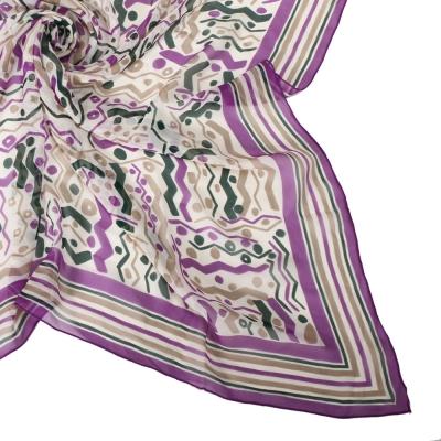 Christian Dior 繽紛彩帶嘉年華大領巾-紫