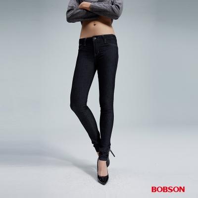 BOBSON 女款超緊身深藍牛仔褲