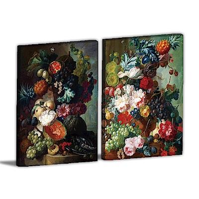 24mama掛畫-兩聯式直幅 掛畫無框畫 豐收的樣貌 30x40cm