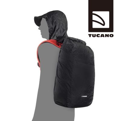 TUCANO COMPATTO 摺疊收納背包雨衣-連帽款