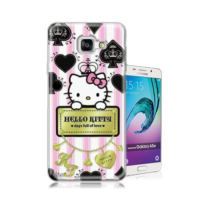 三麗鷗正版 凱蒂貓 Samsung Galaxy A5(2016)透明軟式保護殼...