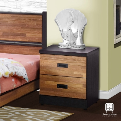 漢妮Hampton柏格納系列積層木床頭櫃48x40.5x56cm