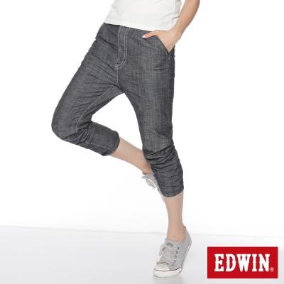 EDWIN MISS 503 B.T.假後袋飛鼠褲-女-原藍色