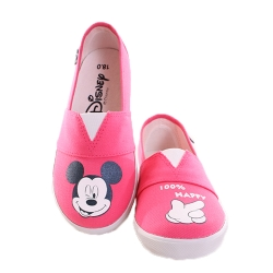 迪士尼 米奇 鬆緊帶 帆布鞋-紅 sh9967
