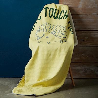 Yvonne Collection5x7呎刺蝟單人包紗薄被-嫩黃
