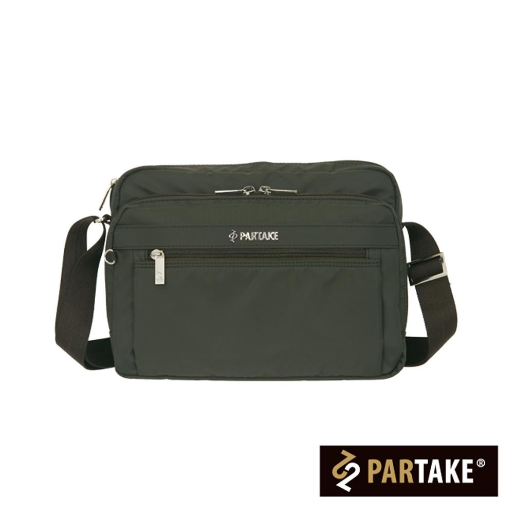 PARTAKE-都會休閒生活系列-多隔層側背包-深灰-PT16-B2-65IG